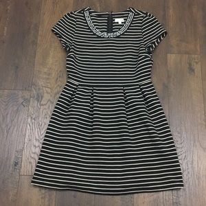 Maison Jules ribbed striped fit and flare dress
